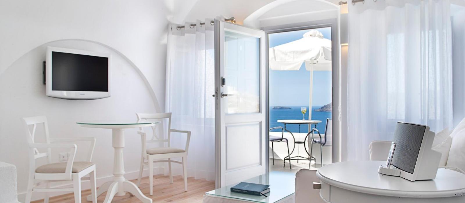 圣托里尼嘉邸祺度假酒店(Katikies Santorini) 高级套房起居室图片  www.lhw.cn