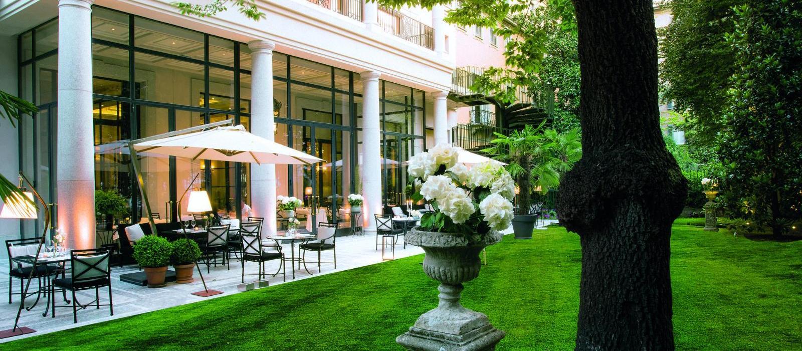 米兰巴黎宫水疗酒店(Palazzo Parigi Hotel Grand Spa) 私人花园外景图片  www.lhw.cn