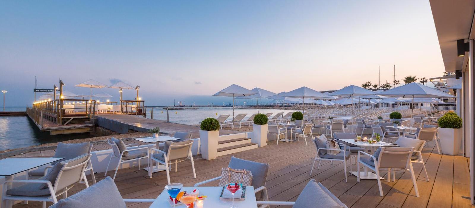 巴里耶尔马杰斯迪克酒店(Hotel Barriere Le Majestic Cannes) 海滩图片  www.lhw.cn