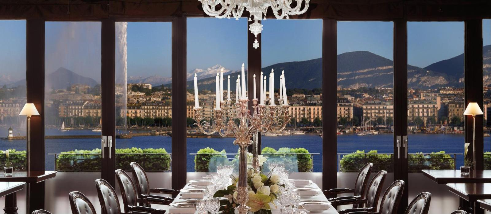日内瓦彤格乐湖景酒店(Hotel d'Angleterre, Geneva) l'Observatoire餐厅图片  www.lhw.cn
