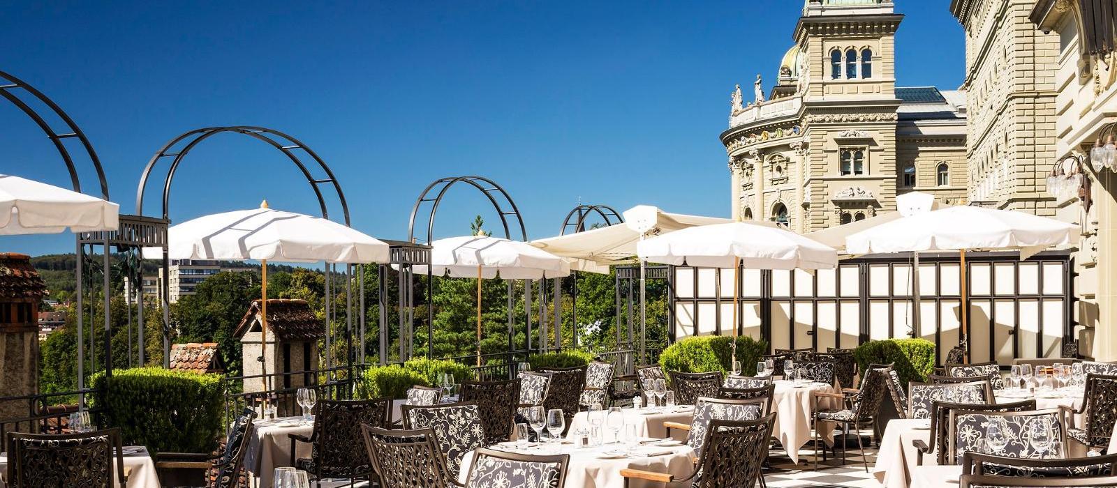 伯尔尼贝尔维尤宫国宾酒店(Bellevue Palace) 户外餐厅图片  www.lhw.cn
