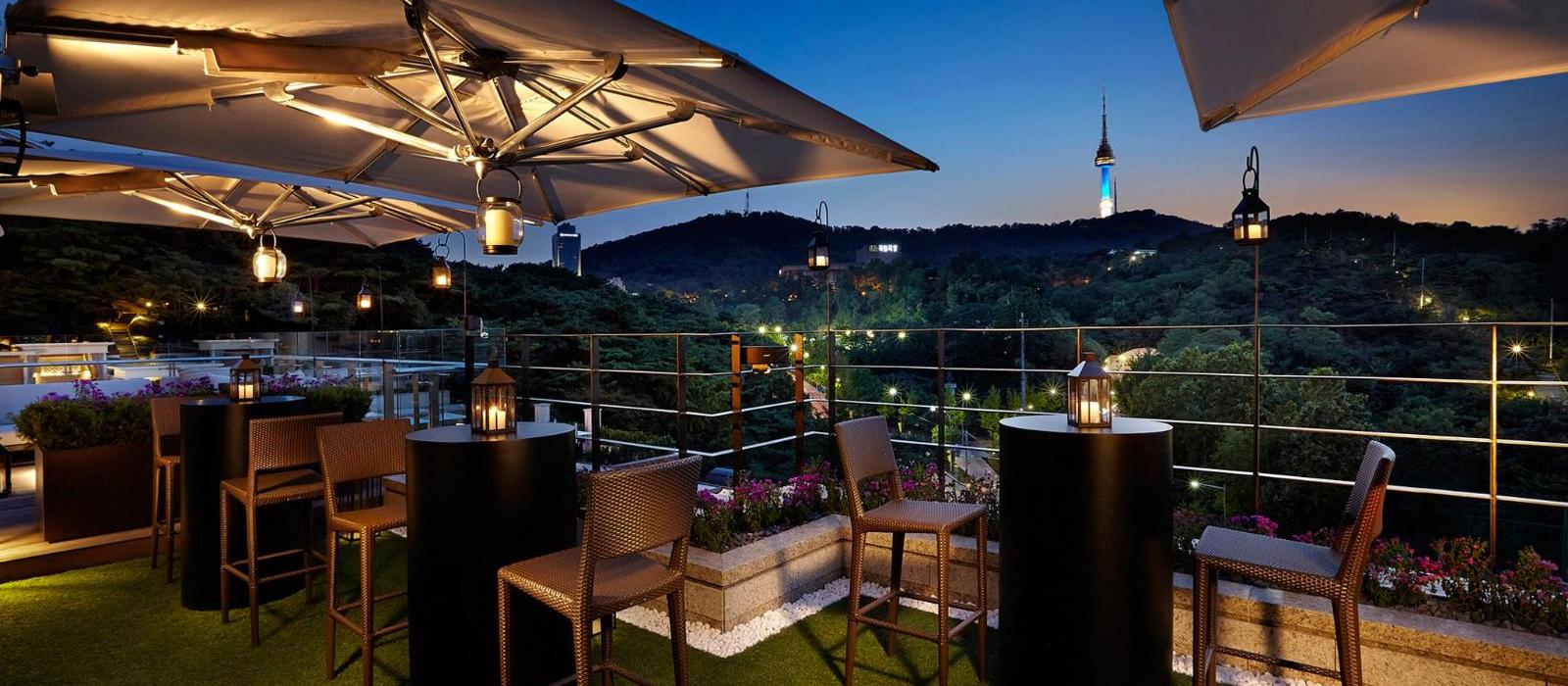 首尔新罗酒店(The Shilla Seoul) 屋顶花园图片  www.lhw.cn