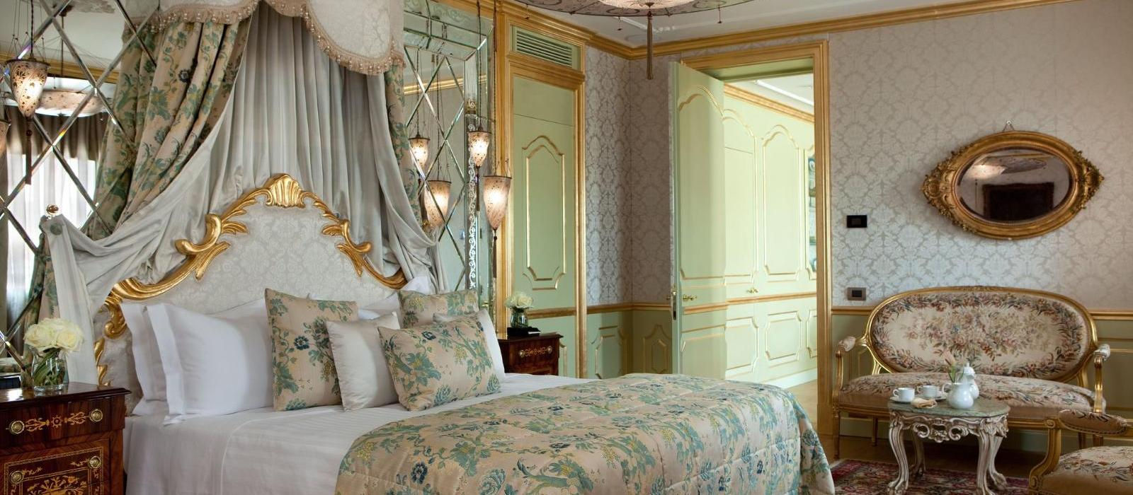 露纳巴廖尼酒店(Baglioni Hotel Luna) 圣乔治套房主卧图片  www.lhw.cn