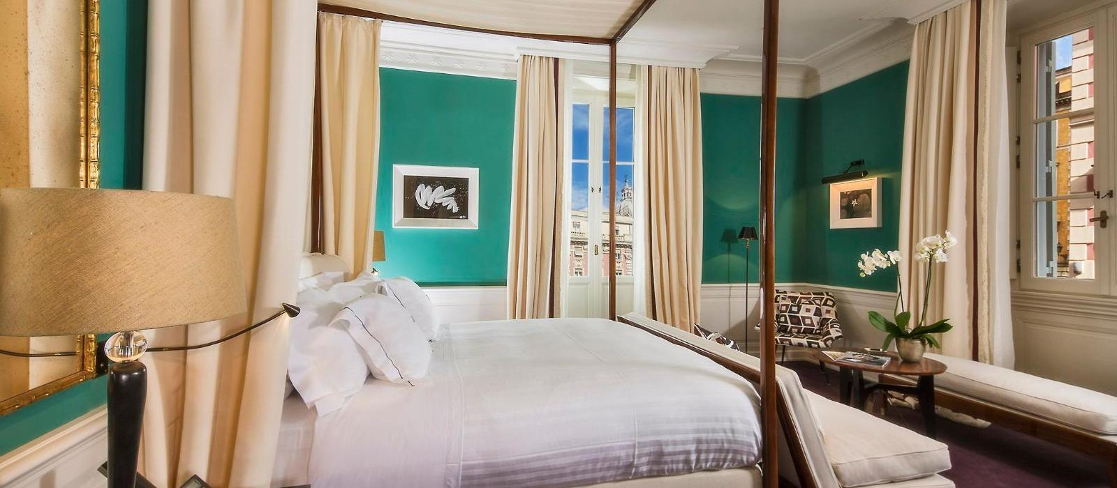 罗马锦凯酒店(J.K. Place Roma) 套房主卧图片  www.lhw.cn