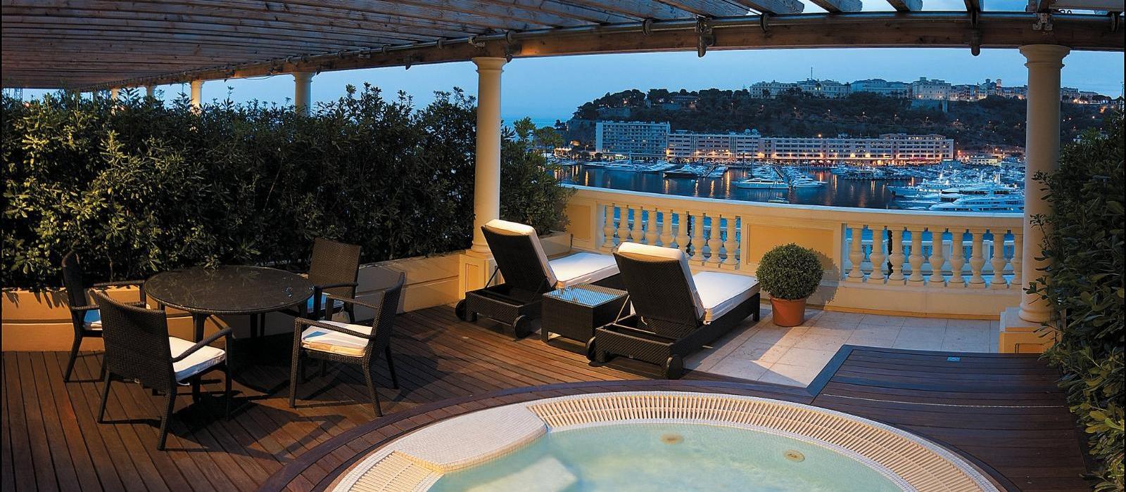 蒙特卡洛赫谧坦吉大酒店(Hotel Hermitage Monte-Carlo) 按摩池海景钻石套房图片  www.lhw.cn