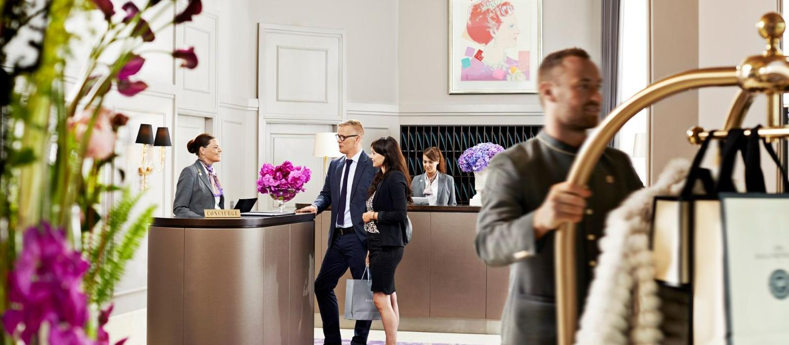 彤格乐豪华酒店(Hotel d'Angleterre) 接待处图片  www.lhw.cn