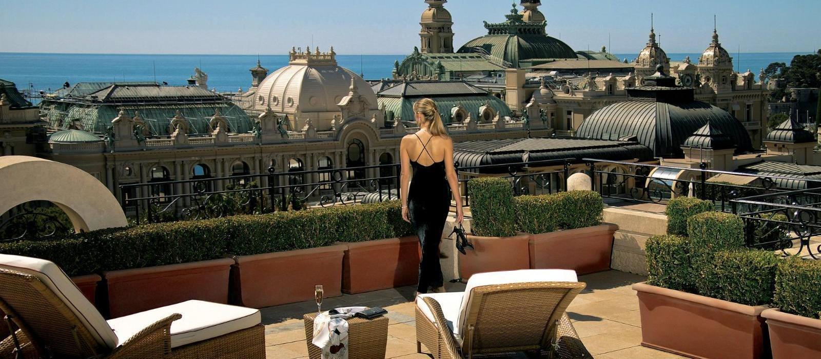 蒙特卡洛大都会酒店(Hotel Metropole Monte-Carlo) 金色转角套房露台图片  www.lhw.cn