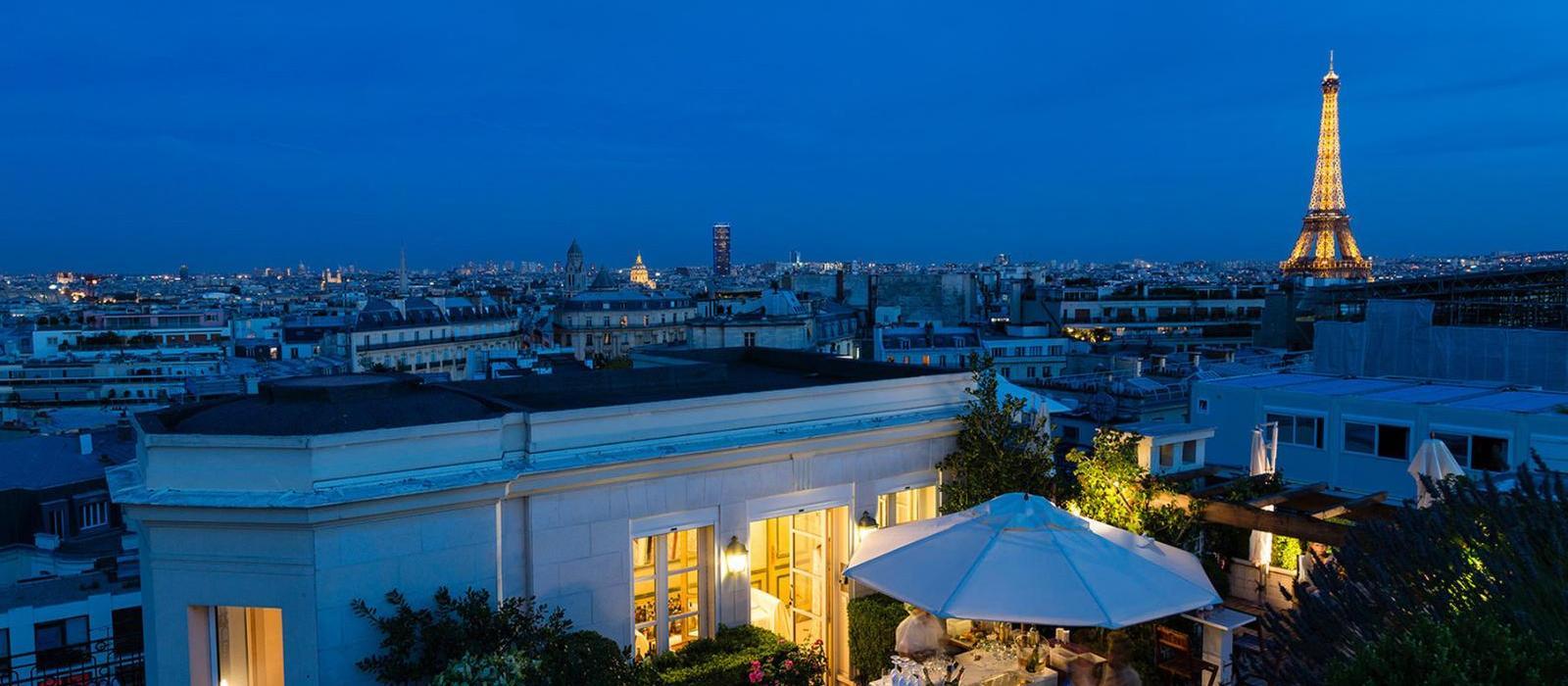 巴黎拉斐尔酒店(Hotel Raphael) 露台美景图片  www.lhw.cn