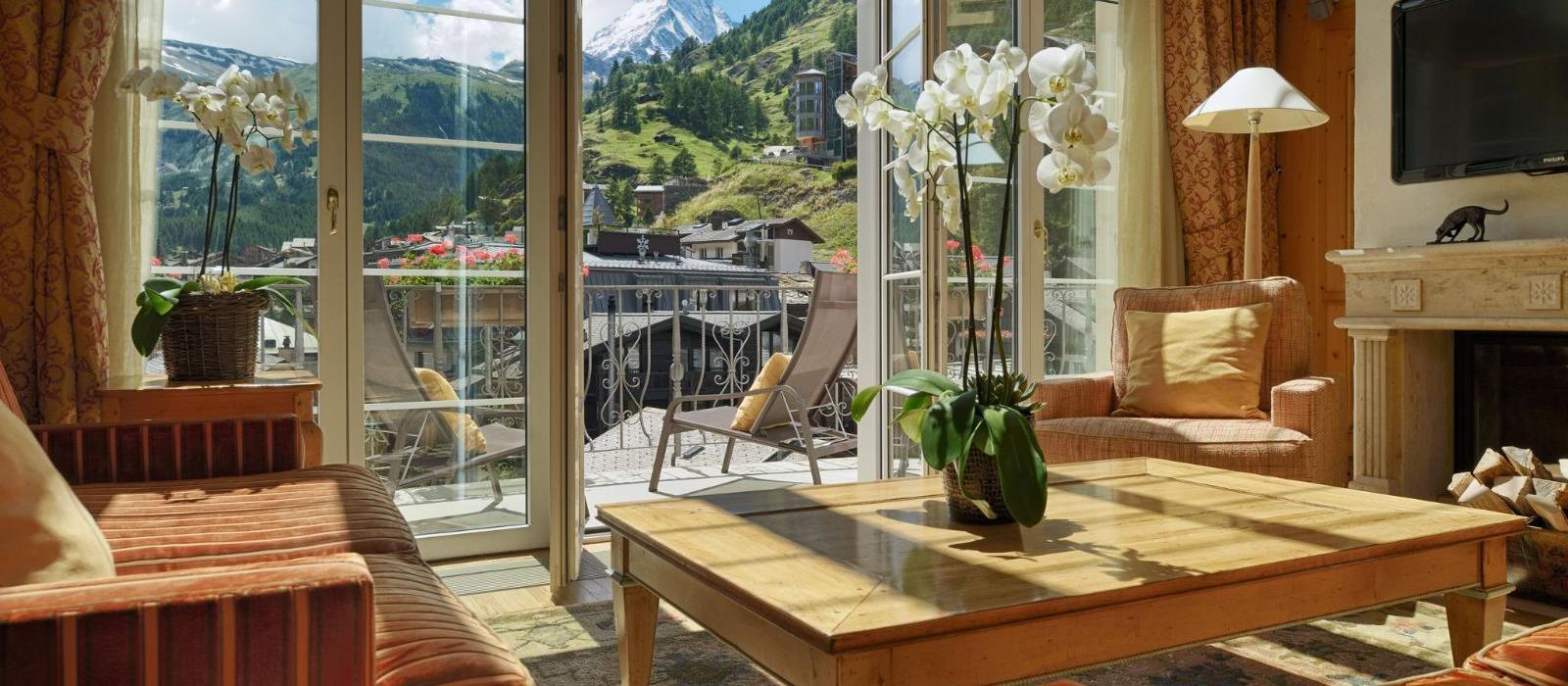 马特峰皇轩酒店(Mont Cervin Palace) 阿尔卑斯山复式套房图片  www.lhw.cn