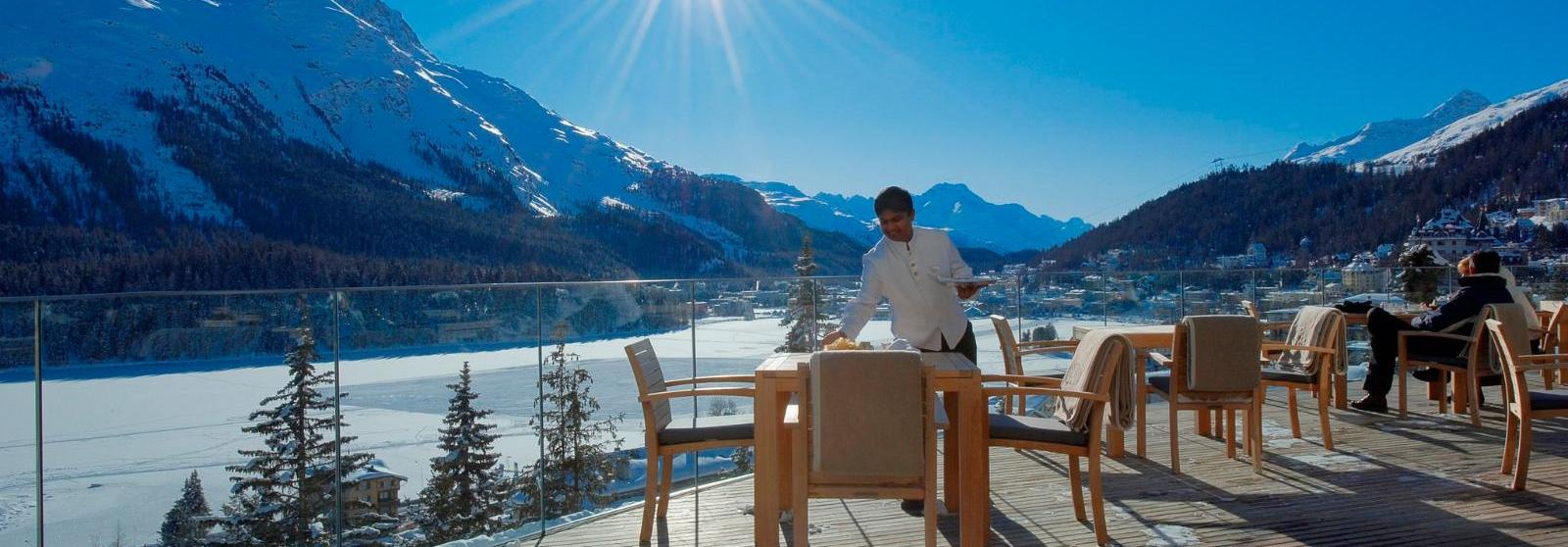 圣莫里茨卡尔顿酒店(Carlton Hotel St. Moritz) 露台图片  www.lhw.cn