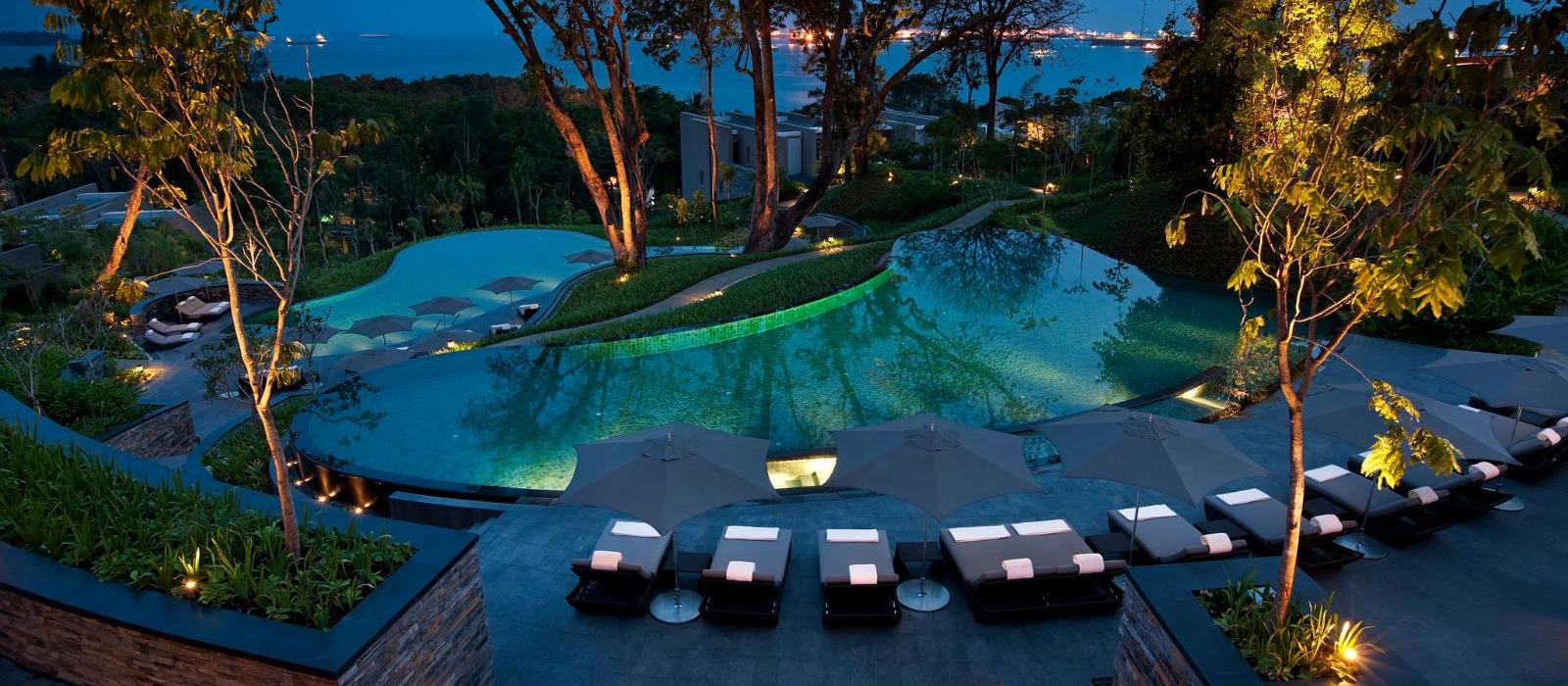 新加坡嘉佩乐酒店(Capella Singapore) 泳池景观图片  www.lhw.cn